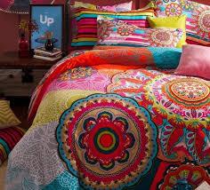 vintage colorful 100 cotton bedding set boho bohemian king queen size duvet cover bedspread bed in a bag sheets quilt linen cotton duvet cover sets bedroom