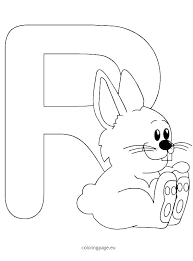 Letter R Coloring Page Hashclub