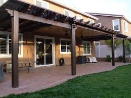 solid wood patio covers. Bination Solid And Open Lattice Alumawood Patio Cover Menifee Wood Strips Covers U