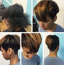 cute short hairstyle for black women