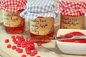 Decorating Jelly Jars Unbelievably Easy County Fair Candy Apple Jelly and my first 49