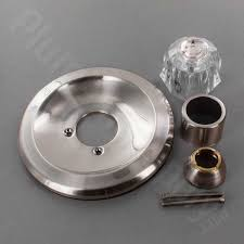 satin nickel tub shower trim kit with acrylic knob handle for delta