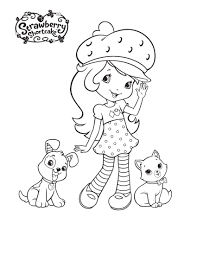 Small Picture Fresh Strawberry Shortcake Coloring Pages 32 With Additional