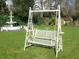 comfort and harmony vintage garden swing antique cream 2 seater garden metal swing bench antique garden