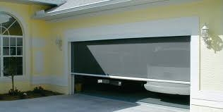 roll up garage door screenMotorized Garage Screens Power Screens  Screenmobile