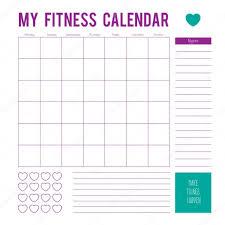 Workout Calendar Template 2019 Fitness Calendar Plan For A