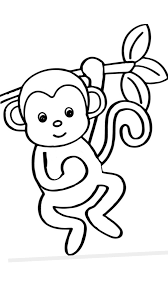 Cute free monkeys coloring page to download. Pin By Jillane Manville On Monkeys Monkey Coloring Pages Simple Flower Drawing Bird Coloring Pages