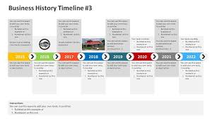 Timeline On Ppt Business History Timeline Powerpoint Template 2