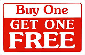 Free Sign Sale Sign Buy One Get One Free Business Sign Store Discount Promotions Message Signs 11 X 7