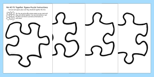 Puzzle Piece Template Fascinating We All Fit Together Class Portrait Jigsaw Puzzle Jigsaw
