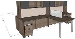Custom Contemporary 4-Person Workstation