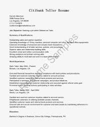 Resume Summary Statement For Bank Teller Free Templates Resume For