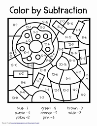 Make math fun with coloring! Coloring Number Definition Fresh Subtraction Color By Number Math Worksheets Mathematical Meriwer Coloring