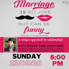 BOOK YOUR FREE TICKET for Marriage is no joke, but can be funny! on Zoom,  Sun 23 Aug 2020
