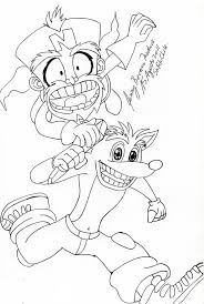 Pictures Of Crash Bandicoot Coloring Pages Kidskunstinfo