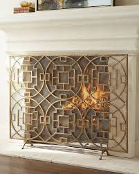 pyra fireplace screen great gold screens at horchow