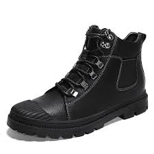 hot man boots high top leather shoes motorcycle boots