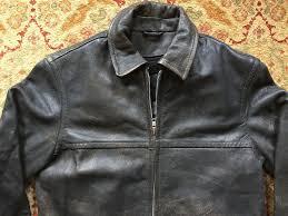 details about j crew men s leather jacket w fleece liner dark coffee brown black sz m