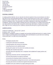 8 Sample Property Management Resumes Sample Templates