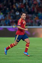 xavi  xavi playing for spain