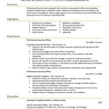 Security Resume Sample Retail Security Officer Resume Examples Templates Best 35