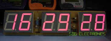 6 digit led clock sdg electronics 6 digit led clock