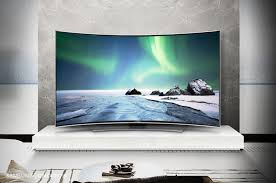samsung curved tv in living room. also, consider the angle of tv when arranging seating to ensure screen is visible and image clear all. with curved tvs, like samsung\u0027s 4k samsung tv in living room e