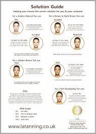 La Tanning Solution Guides Colour Charts