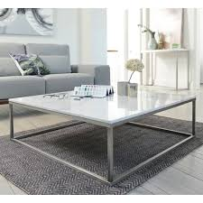marble coffee table. Marble Square Coffee Table White D