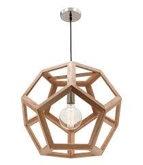 ta large pendant light natural timber hexagon mg4231l