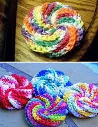 Free Crochet Patterns For Scrubbies Extraordinary Spiral Scrubbie Free Pattern Crochet Patterns Only Spiral