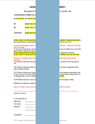 General Power Of Attorney - Form Template & Sample   Lawpack.co.uk