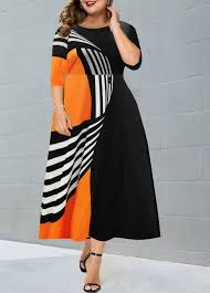 Modlily Size Chart Plus Size High Waist Printed Dress Modlily Com Usd 35 76