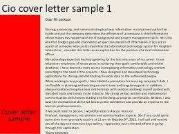 Cio Cover Letter Cio Cover Letter