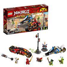 LEGO 70667 Ninjago Kai's Blade Cycle and Zane's Snowmobile, Ninja Action  Figures, Colourful: LEGO: Amazon.co.uk: Amazon.co.uk:   Schneemobil, Lego  ninjago, Lego