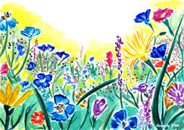 wildflowers watercolor painting it always brings a smile to my face to see wild flowers that grow out in places where you least expect them