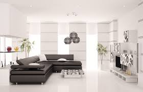 all white modern living room design with black sectional sofa picture black white living room furniture