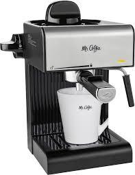 Best espresso machines with steam wand. Mr Coffee Steam Espresso Maker Coffee Maker Milk Frother Black Bvmc Ecm170 Best Buy