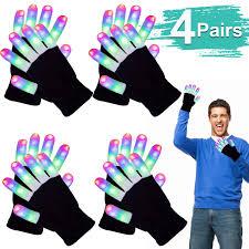 Light Up Gloves Amazon Amazon Com 4p Led Gloves Adult Finger Lights Light Up