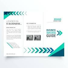 Brochure Templates On Microsoft Word Business Fold Brochure Template Design With Geomec Shapes