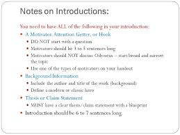 essay notes ppt 5 notes on introductions