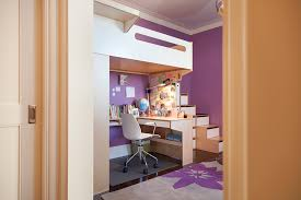 loft bed with storage stairs leading up u shaped desk below loft casa kids furniture