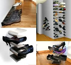 ... Wall Mounted Shoe Shelves Black Metal Creative Wall Mounted Shoe Rack  For Small Wardrobe Spaces Ideas ...
