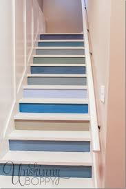painted basement stairs. Delighful Painted Painted Basement Steps With Board And Batten  Unskinny Boppy For Basement Stairs