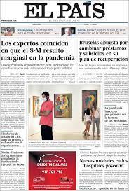 2020-05-27 Periódico El País (España). Periódicos de España. Toda la prensa  de hoy. Kiosko.net   Noticias de periodicos, Periodismo, Periodicos de  españa