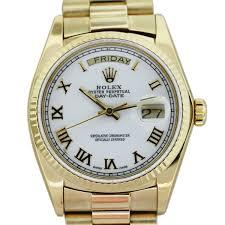 rolex president 18038 18k yellow gold white dial mens watch boca raton rolex president 18038 18k yellow gold white dial mens watch