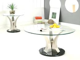 modern round glass coffee table toronto top