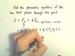 parametric equations of line passing