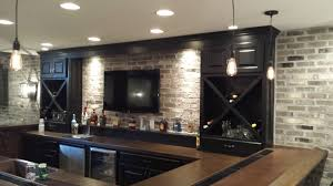 lighting for basements. Remodel With Custom Bar, Pendant Lights, Keg, And Cooler Lighting For Basements