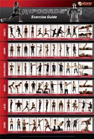 Amazon Com Ripcords Exercise Guide Poster Resistance